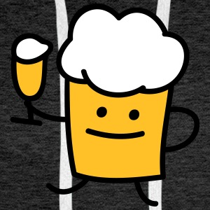 Beer with beer Hoodies & Sweatshirts - Men's Premium Hoodie