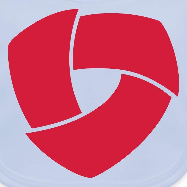 Logo-Lätzchen in verschiedenen Farben