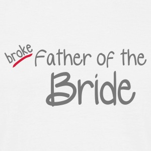 Vit Father of the Bride T-shirts - T-shirt herr