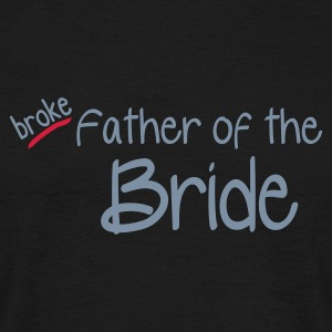 Black Father of the Bride Men's T-Shirts - Men's T-Shirt