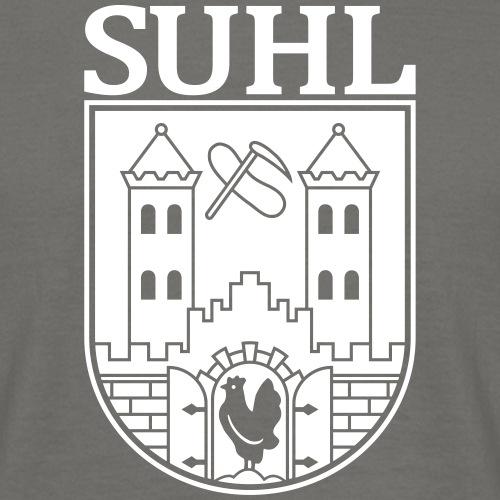 Suhl Wappen mit Schrift (weiß)