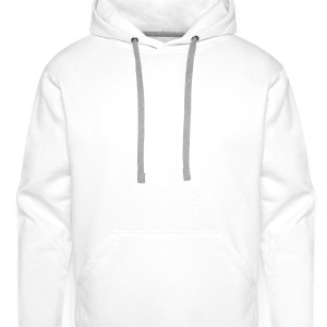 White Rabbit with a red Rose - Men's Premium Hoodie