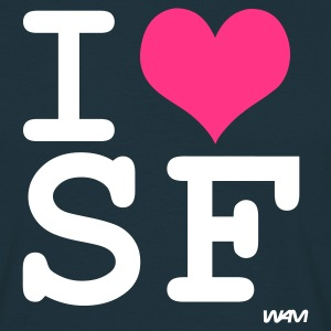 Navy i love san francisco by wam T-Shirts - Männer T-Shirt