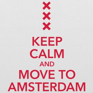 keep calm move to Amsterdam Holland Andreaskreuz - Stoffbeutel