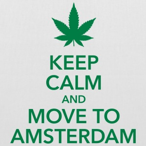 keep calm move to Amsterdam Holland Cannabis Dope - Stoffbeutel
