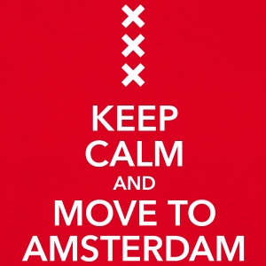 keep calm move to Amsterdam Holland Andreaskreuz - Männer T-Shirt
