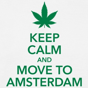 keep calm move to Amsterdam Holland Cannabis Dope - Männer T-Shirt