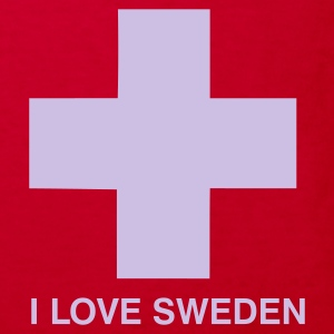I LOVE SWEDEN - KIDS - Kinder Bio-T-Shirt