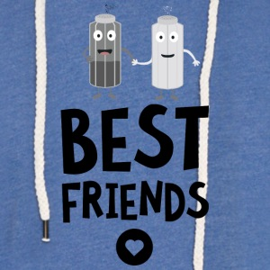 Salt and pepper Best friends Heart Sljb9 Hoodies & Sweatshirts - Light Unisex Sweatshirt Hoodie