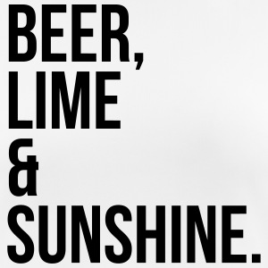 Beer, Lime & Sunshine Funny Quote T-shirts - Andningsaktiv T-shirt dam
