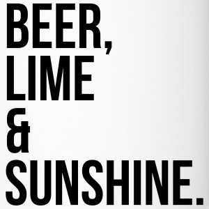 Beer, Lime & Sunshine Funny Quote Mugs & Drinkware - Travel Mug
