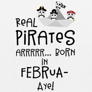 Real Pirates are born in FEBRUARY S06h6 Bags & Backpacks - EarthPositive Tote Bag
