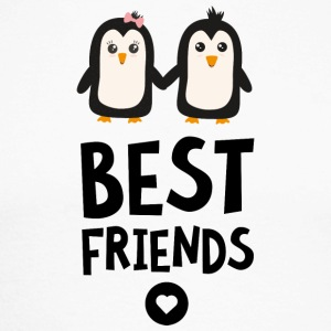 Penguin Best friends Heart Sfuls Long sleeve shirts - Men's Long Sleeve Baseball T-Shirt