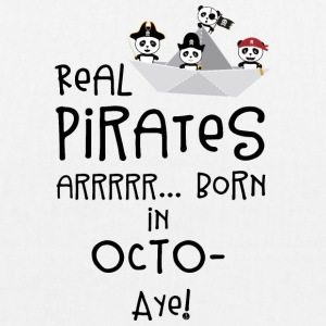 Real Pirates are born in OCTOBER Sbclk Bags & Backpacks - EarthPositive Tote Bag
