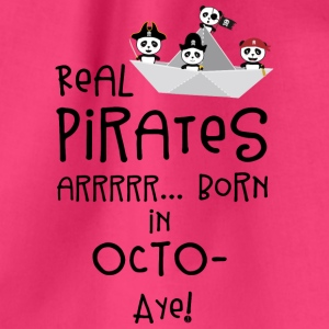 Real Pirates are born in OCTOBER Sbclk Bags & Backpacks - Drawstring Bag