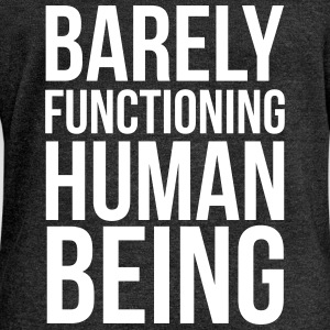 Barly Functioning Human  Hoodies & Sweatshirts - Women's Boat Neck Long Sleeve Top