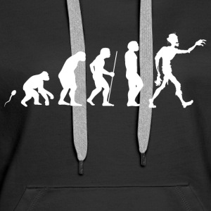 Zombie Evolution Fun Shirt Pullover & Hoodies - Frauen Premium Hoodie