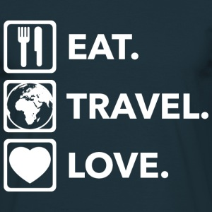 EAT/Travel/Love T-Shirts - Männer T-Shirt