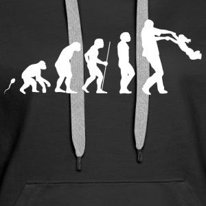 Daddy  Evolution Fun Shirt Pullover & Hoodies - Frauen Premium Hoodie