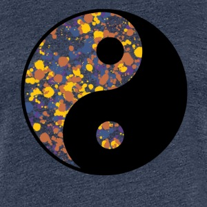 Yin Yang, splashes of color, color, BLOBs,  T-Shirts - Women's Premium T-Shirt