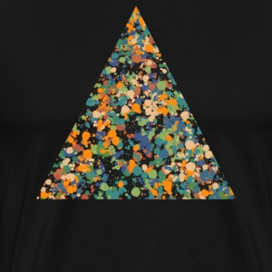 Triangle, camouflage, éclaboussures, points, couleur, multi couleur Tee shirts - T-shirt Premium Homme