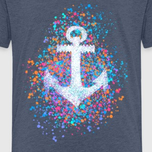 Anchor, splashes of color, summer, sea, port, sailing Shirts - Kids' Premium T-Shirt