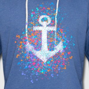Anchor, splashes of color, summer, sea, port, sailing Hoodies & Sweatshirts - Light Unisex Sweatshirt Hoodie