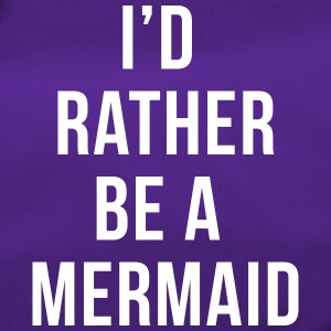 Rather Be A Mermaid Funny Quote  Bags & Backpacks - Duffel Bag