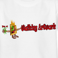 Motiv ~ Walking Artwork, børne t-shirt.