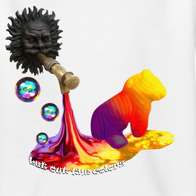 Let out the colors, børne t-shirt