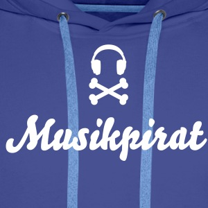 music pirat - musik piraten Gensere - Premium hettegenser for menn