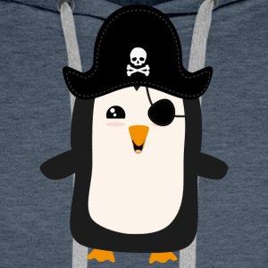 Penguin Pirate Captain S5jdj Hoodies & Sweatshirts - Men's Premium Hoodie