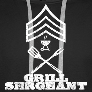 GRILL SERGEANT BBQ SHIRT BARBECUE Pullover & Hoodies - Männer Premium Hoodie