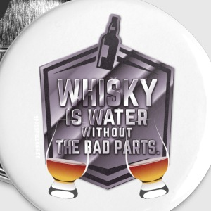 Whisky is water, Nosing Glas - Buttons klein 25 mm