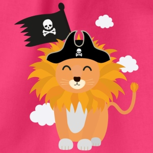 Lion Pirate Captain S1p85 Bags & Backpacks - Drawstring Bag