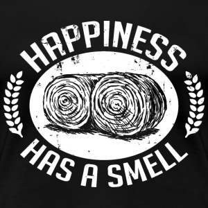 Happiness has a smell T-shirts - Dame premium T-shirt