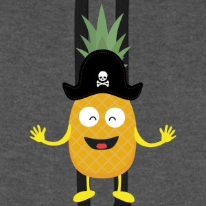 Pineapple Pirate with Hat Sk3o1 Hoodies & Sweatshirts - Unisex Baseball Hoodie