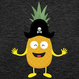 Pineapple Pirate with Hat Sk3o1 Tops - Women's Premium Tank Top