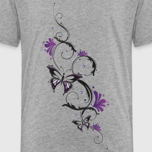 Florales Ornament mit Schmetterling und Blumen T-Shirts - Teenager Premium T-Shirt
