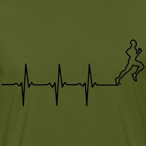 Hardloopshirt hardloper in hartslaglijn