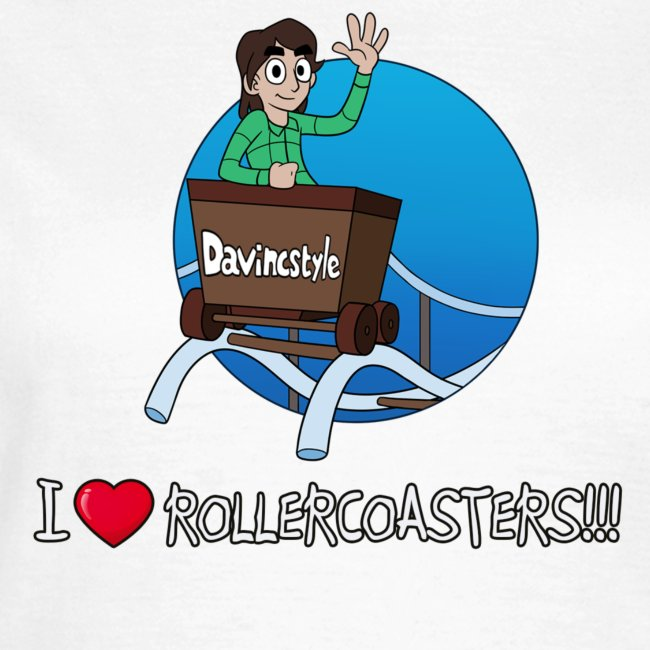 I Love Rollercoasters!!! - Shirt (VROUW)