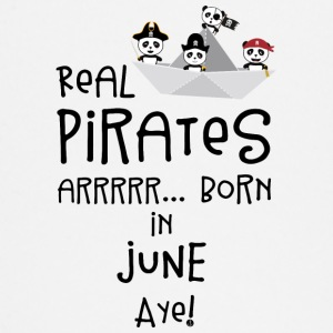 Real Pirates are born in JUNE Sr2xh Baby Long Sleeve Shirts - Baby Long Sleeve T-Shirt