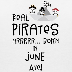 Real Pirates are born in JUNE Sr2xh T-Shirts - Women's V-Neck T-Shirt