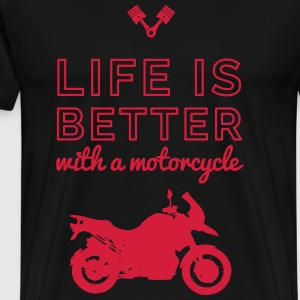motocycle life is better Tee shirts - T-shirt Premium Homme