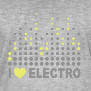 I love electro T-shirts - Mannen Vintage T-shirt