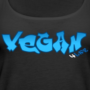 Vegan 4 Life Graffiti [bllue] - Frauen Premium Tank Top