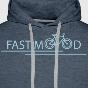fast mood Sweat-shirts - Sweat-shirt à capuche Premium pour hommes