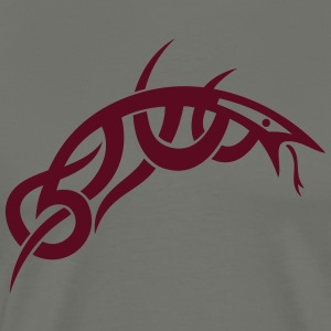 Small and filigree Tribal snake, lizard. - Men's Premium T-Shirt