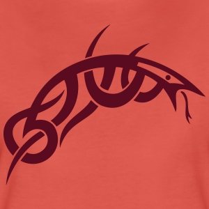Small and filigree Tribal snake, lizard. - Women's Premium T-Shirt