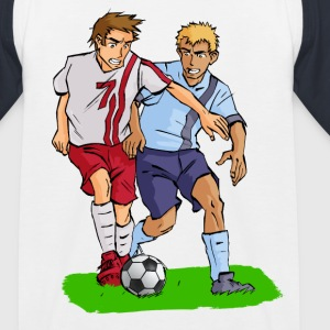 Fussball Comic Kickers T-Shirts - Kinder Baseball T-Shirt